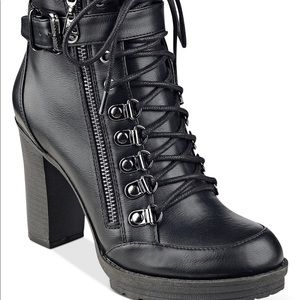 G by Guess Grazzy Lace Up Boots